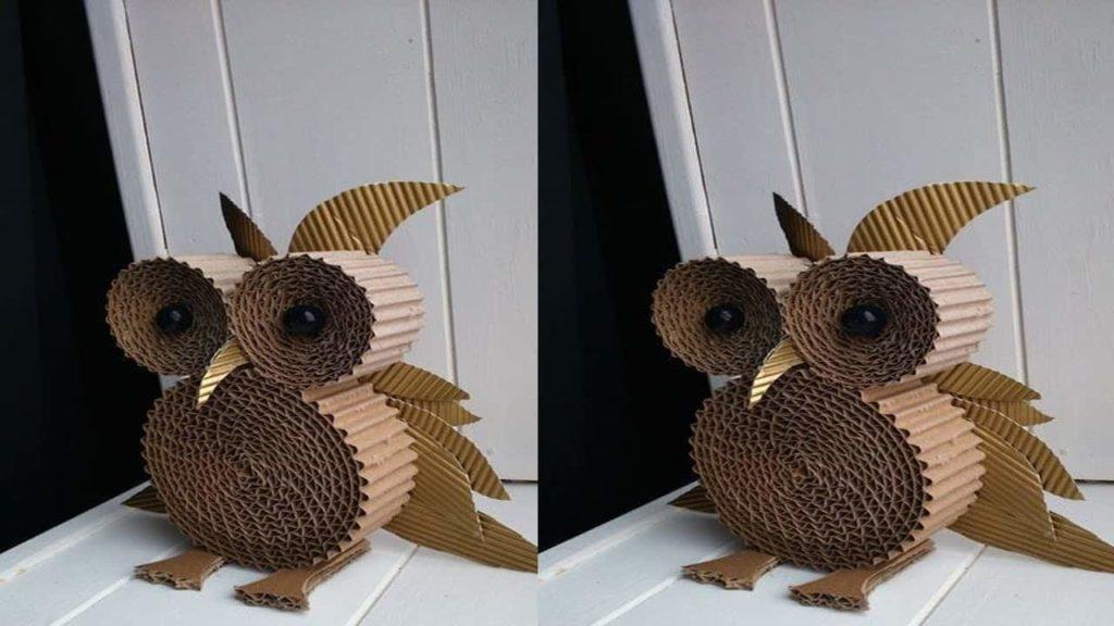 Artificial-cardboard-owl