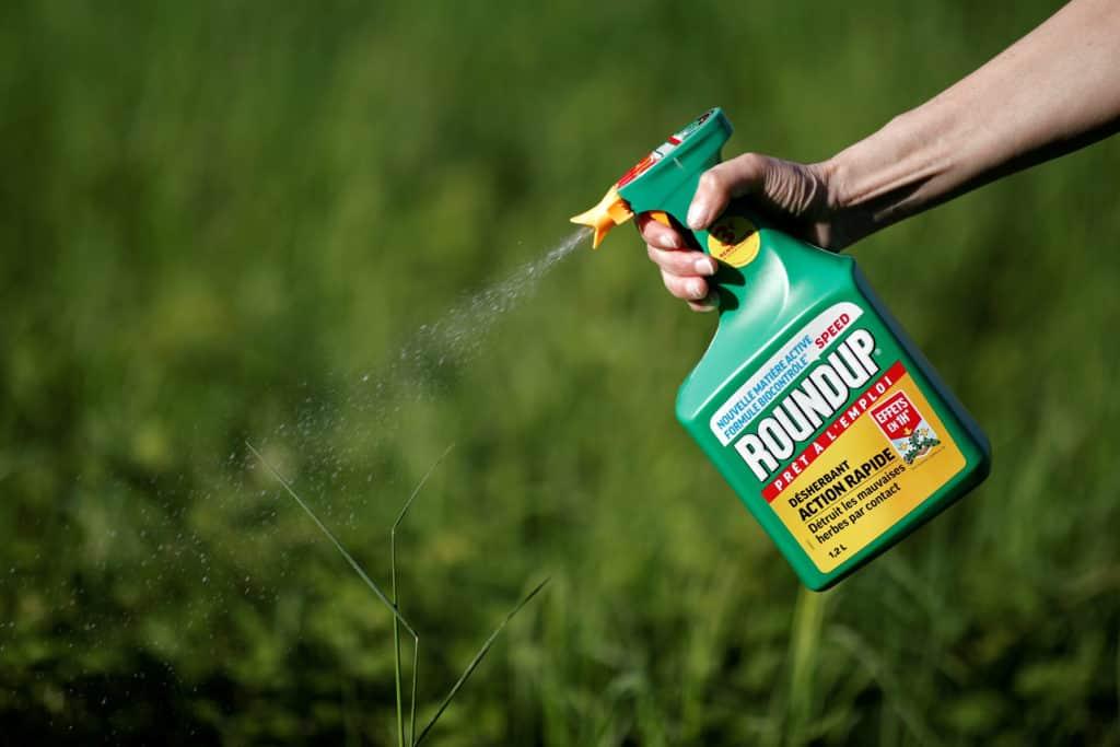 Herbicide-on-mulch