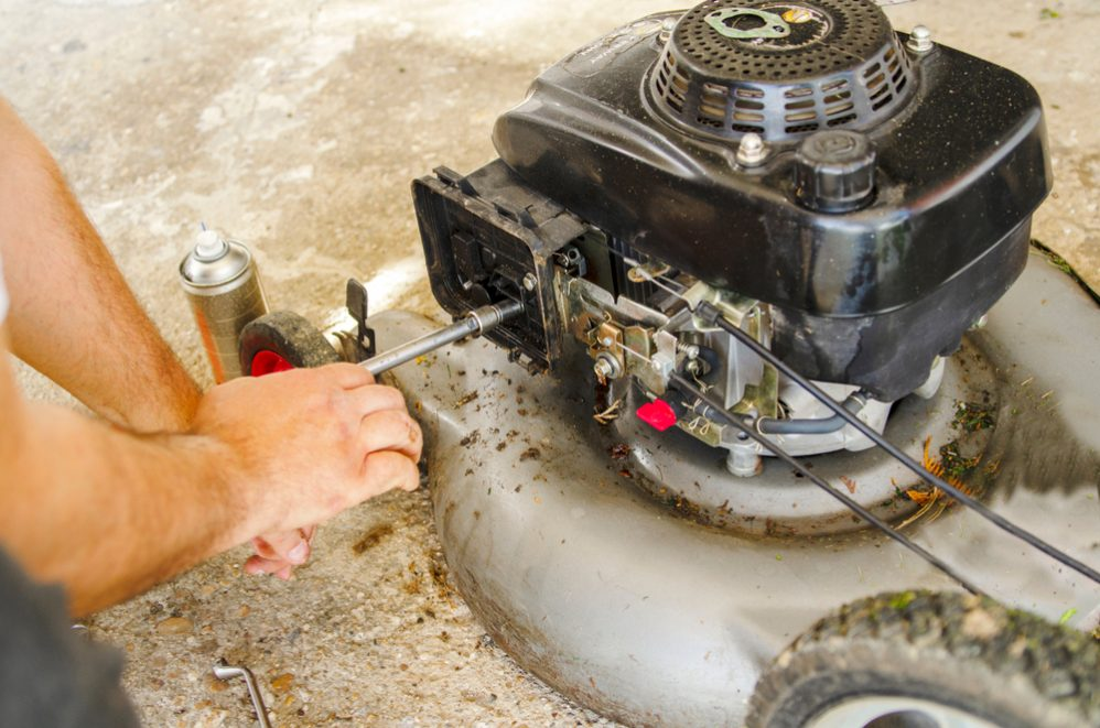 Lawn-mower-engine-starts-then-stops
